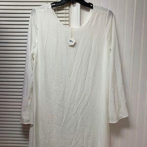 NWT Pinkblush Offwhite Dress Size XL Maternity